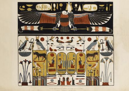 From the Kings Tombs in Thebes. Ancient Egypt Art Print/Poster (4962)
